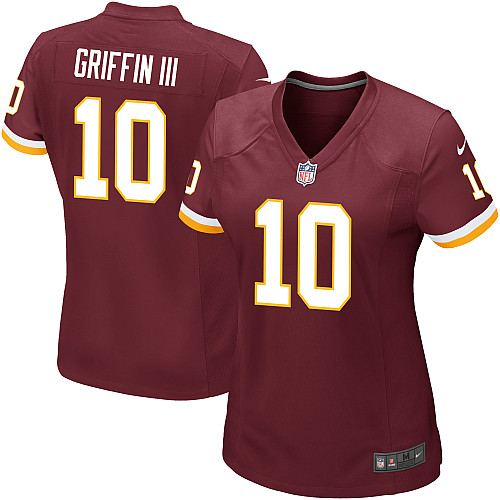 Nike Robert Griffin III Women's #10 Washington Redskins Game NFL Jersey Red